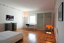 spacious, bright and quiet room