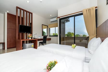 Twin bed apartment in Phuket town - ภูเก็ต