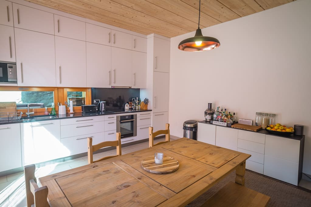 Big spacious and comfortable kitchen/dining