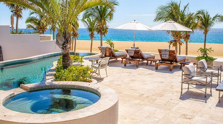 Spectacular 3-Story Beachfront Villa. Flexible Cancellation & 4th Night FREE!