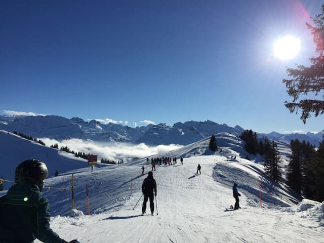 im Skigebiet HochYbrig