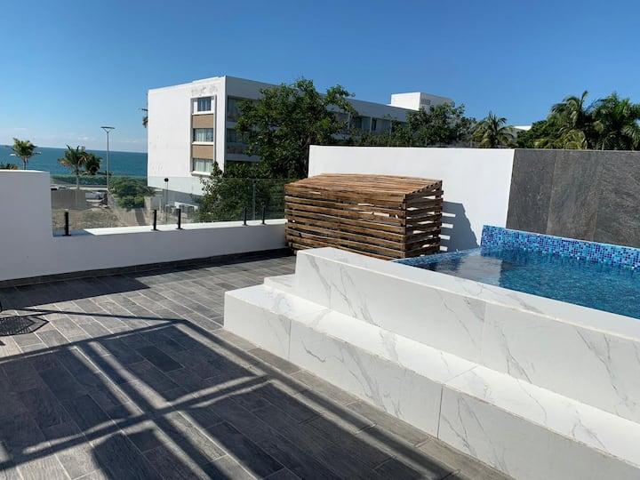 Departamento #vip con roof garden con #Alberca