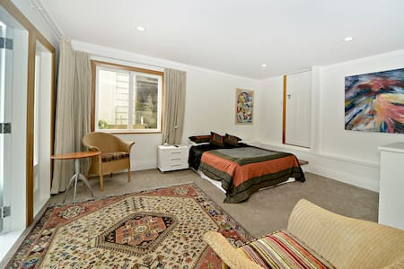 Spacious bedroom with own bathroom.  Own entrance