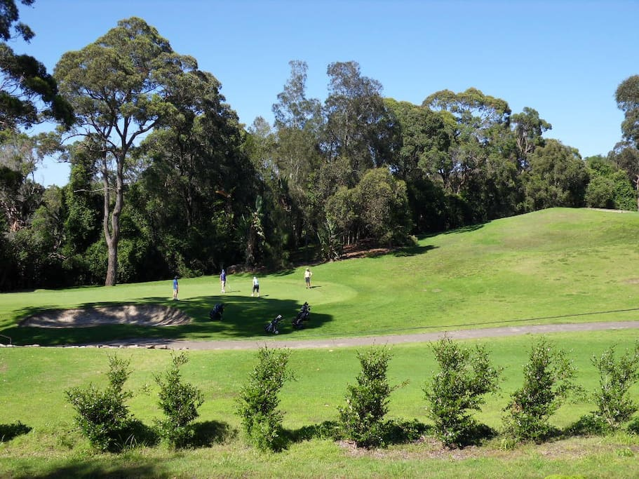Views over Bayview  Golf course