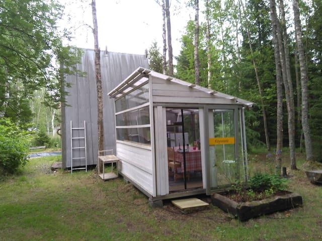 Kota , grilli ja sauna