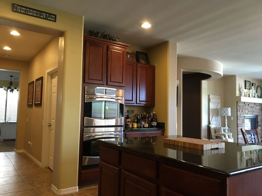 Double oven and oversized granite island to whip up any meal you like, at any time!