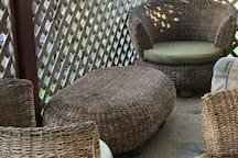 Outdoor undercover seating