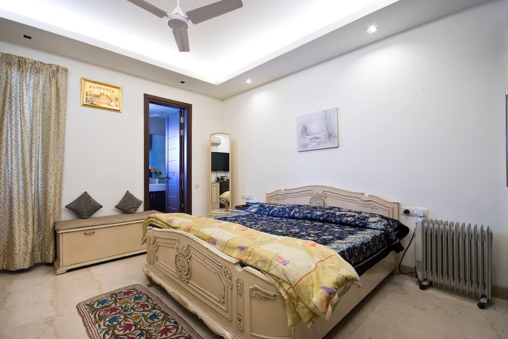Peaceful comfort bedroom.
