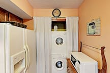 Pack lightly. Your rental includes a washer/dryer.