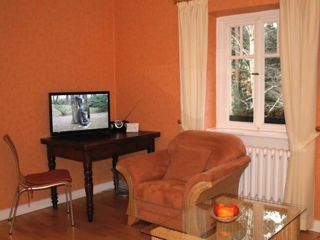 Hubertus Whg.3- Wohnbereich mit TV