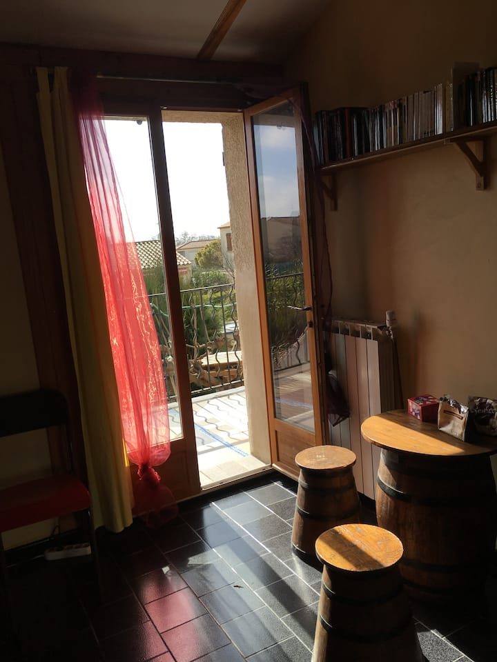 chambre terrasse S.E.  proche de Montpellier
