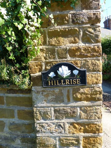 Hillrise sign to help you find us