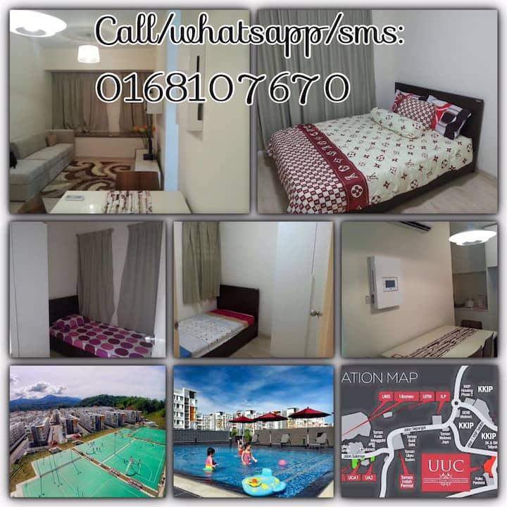 Homestay at KK, Sabah.RM120/day  3 rooms, 2 toilet