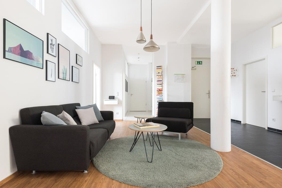 Interior Designed Three Bedroom Loft-Apartment with a spacious Balcony