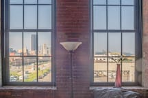 The view of Downtown Pittsburgh from the bedroom