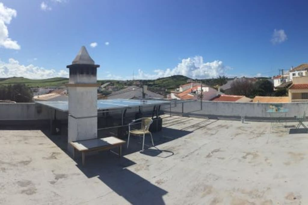 Die große Dachterrasse mit traumhaften Blick und 360 Grad Panorama