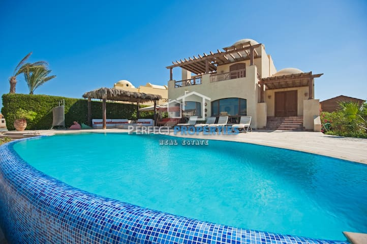 Beachfront El Gouna Villa Only for Families