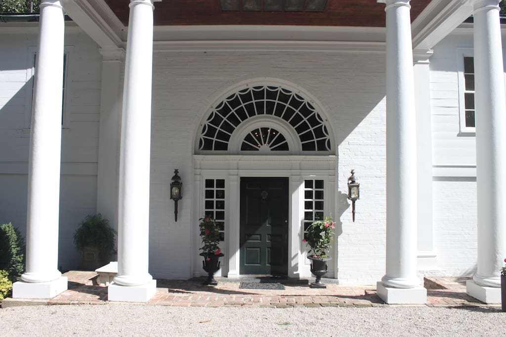 Formal entrance from driveway