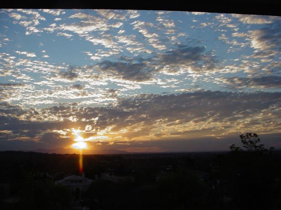 Sunset views from backyard