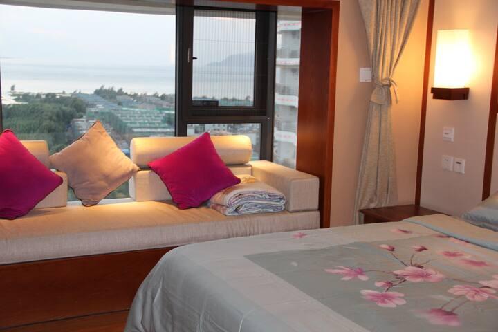 洱海边的复式四人大床海景房可做饭独享整套公寓