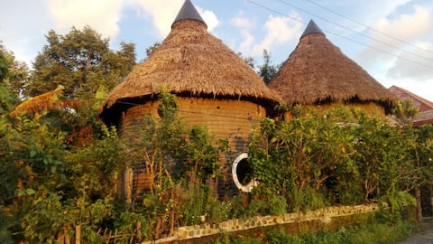 Unique EarthBag House in the Historical Site