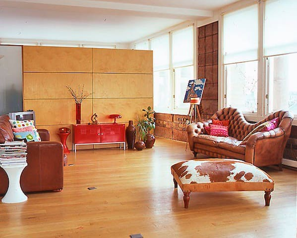The Main living area of The Loft overlooking The Merchant City