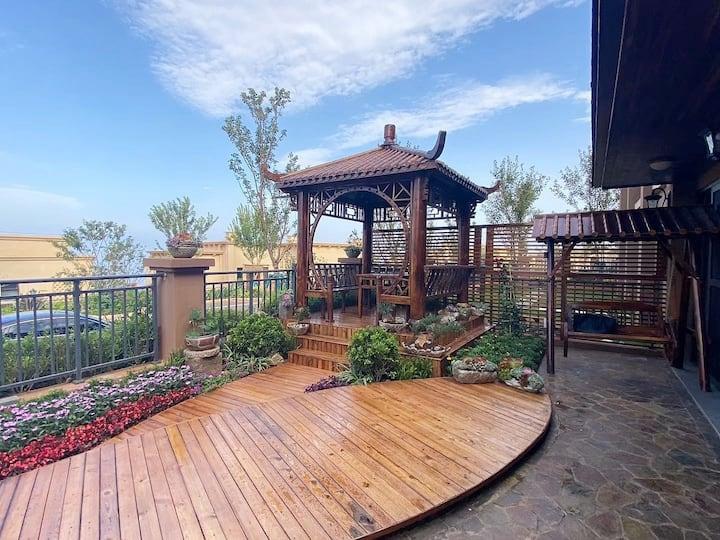 抚仙湖太阳山国际度假区烧烤+品茶+观日落湖景度假庭院