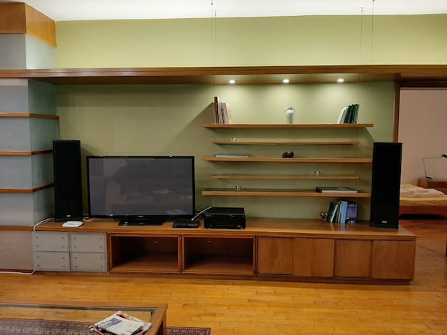 TV, DVD Player and surround sound system