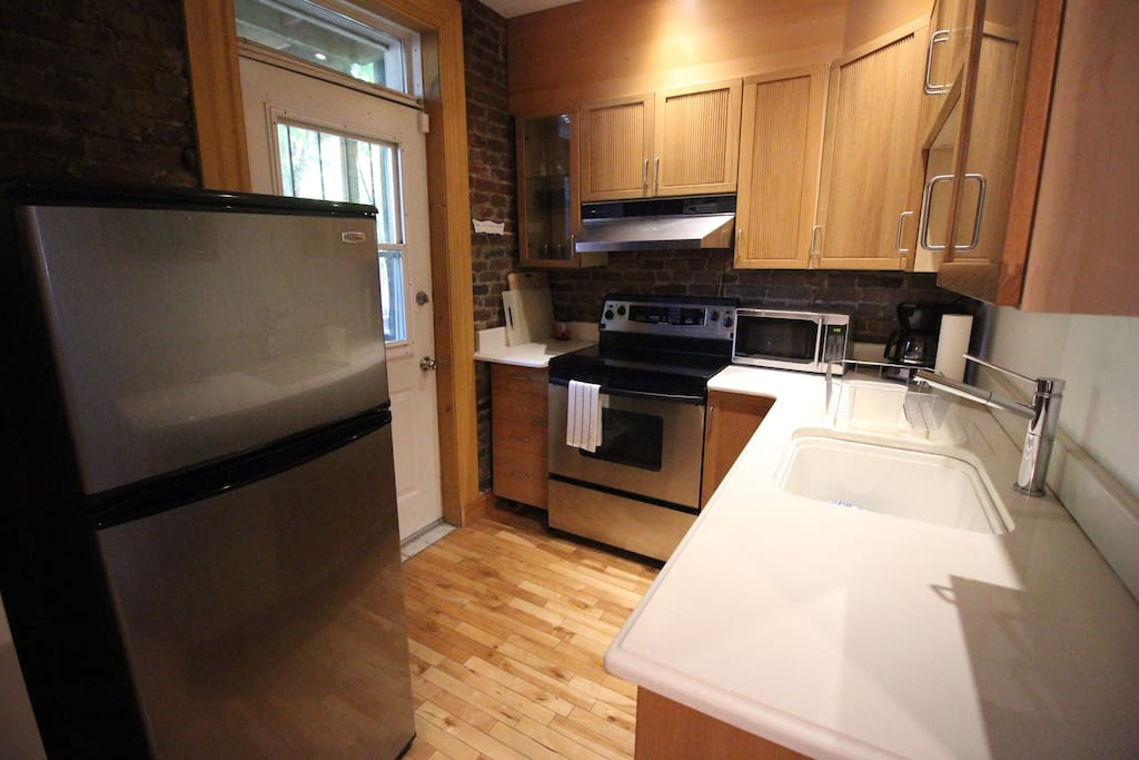 Your kitchen, with access to the backyard