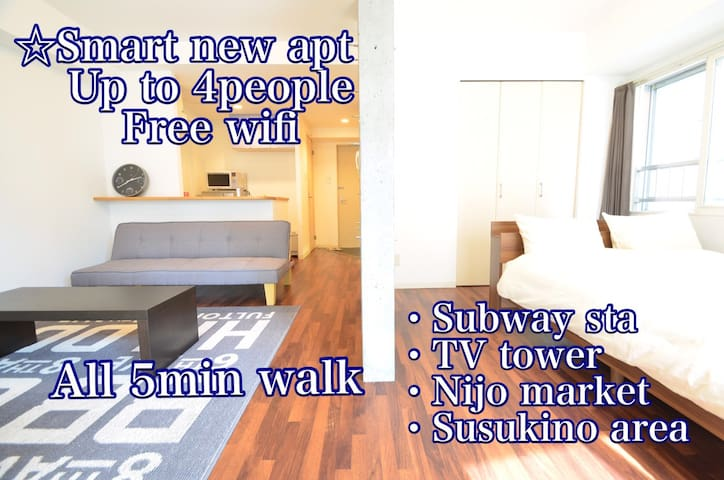 BEST LOCATED! 5min/sta,TV tower,Nijo market & more