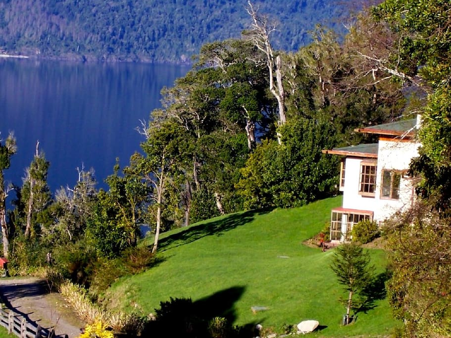 Spectacular lake-front views of Lake Riñihue from all parts of the home.
