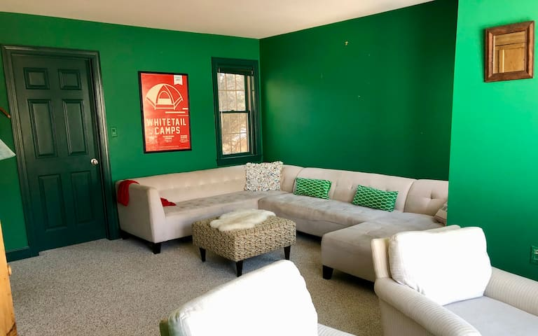 Green room sitting chairs.