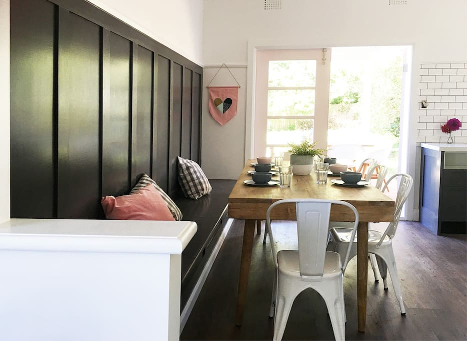 Audrey's dining area is a great entertaining space.