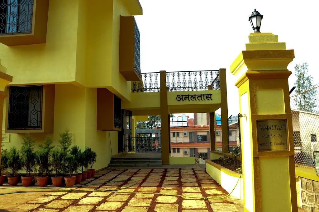 entrance to the laburnum dormitory of Amaltas
