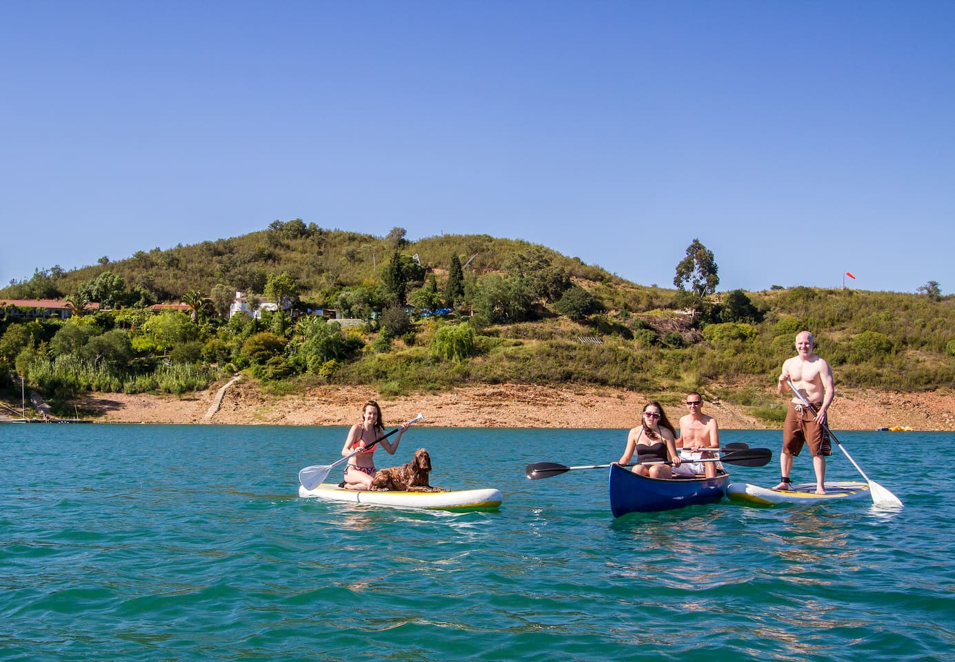 Canoes, rowing boats and SUPs all included in the price