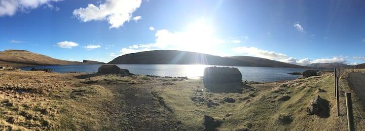 A cosy home in Miðvági.