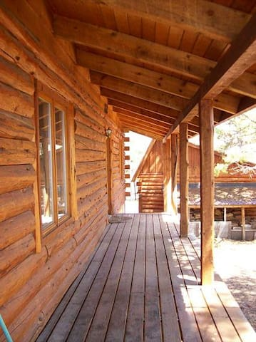 Expansive, covered deck