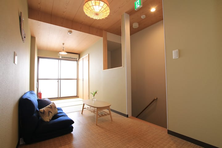 NAMBA,SHINSAIBASHI 5 mins/One Piece Room/FreeWifi