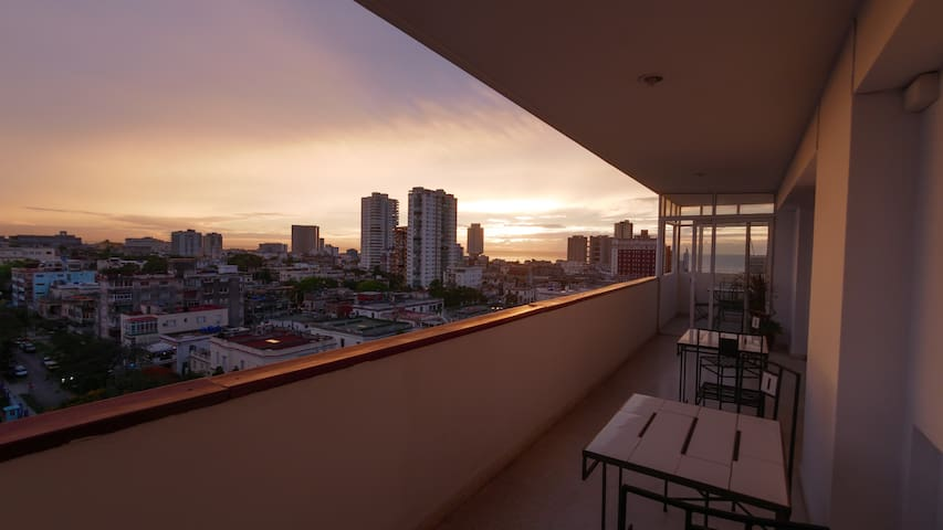 Sip your evening mojito while you watch the sunset from our balcony