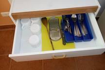 utensilios de cocina .