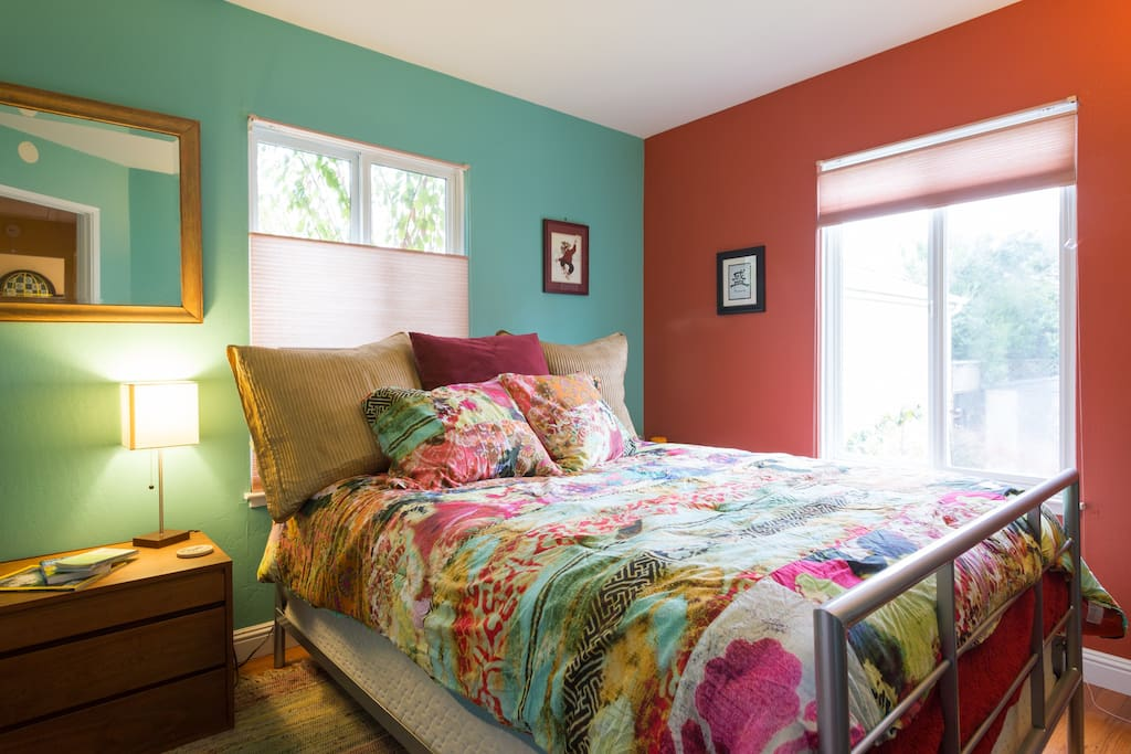 Beat the winter blues with this bright, cheery room full of color!