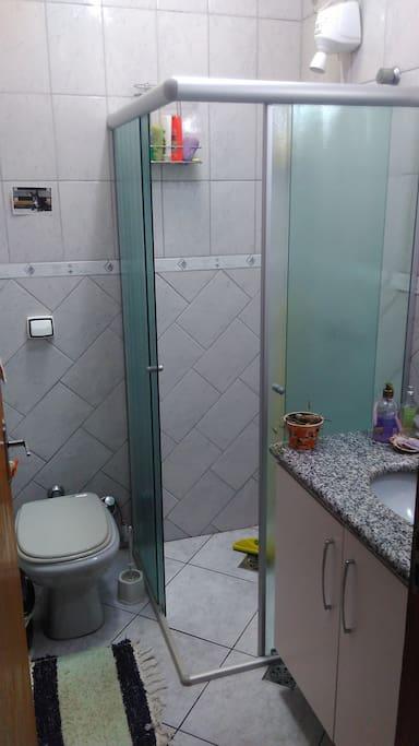 banheiro para uso exclusivo de nossos hóspedes
