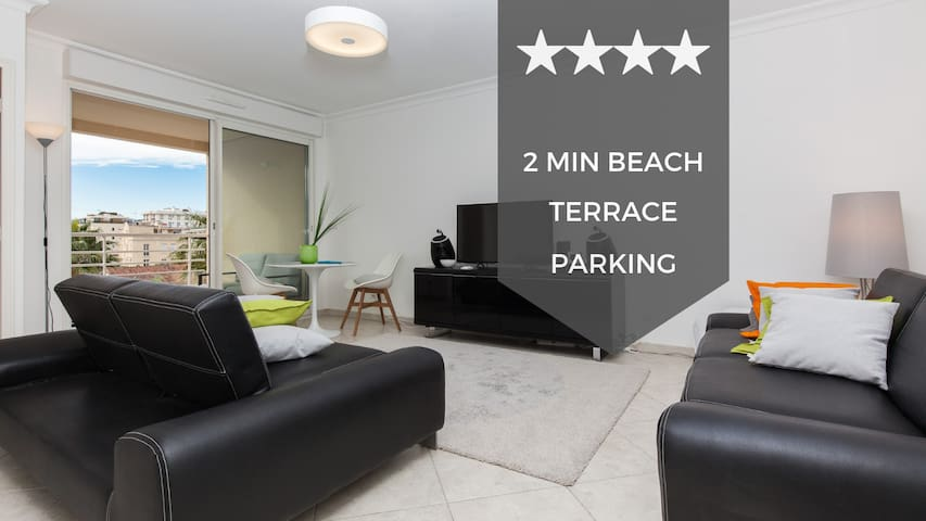 ❤❤ A Peace Haven  ❤❤ Cannes Palm Beach area, 2min from the beaches, terrace