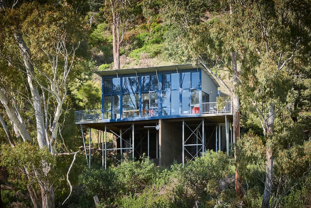 The Two Bedroom Apartment sits high up on the Tamar Ridge in the Brown Brother's Tamar Ridge Estate vineyard.