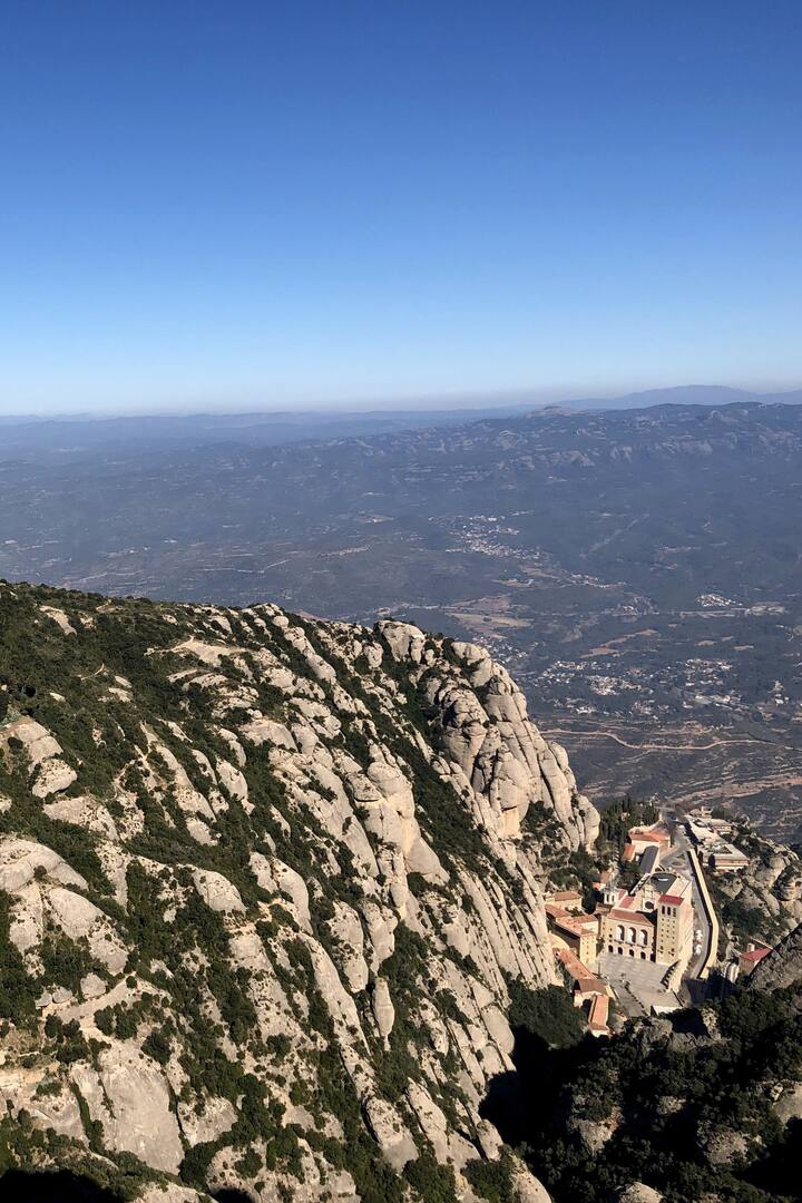 Hike down to the Montserrat Abbey