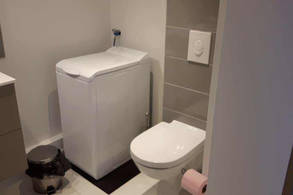 WC, lave-linge