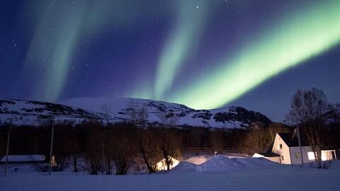 das Nordlicht- und Mitternachtssonnenzimmer in Norwegen