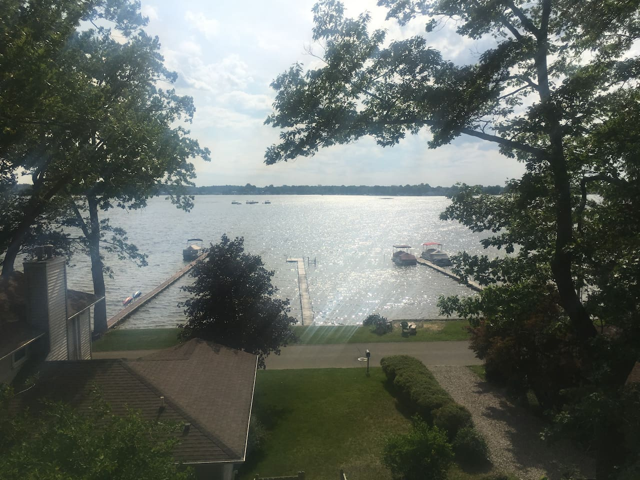 Private dock and 30 feet lakefront property