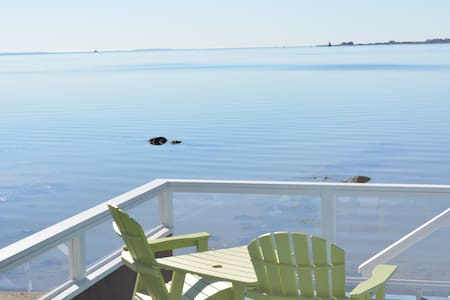 Oceanfront home with private beach and huge deck. - Fairhaven
