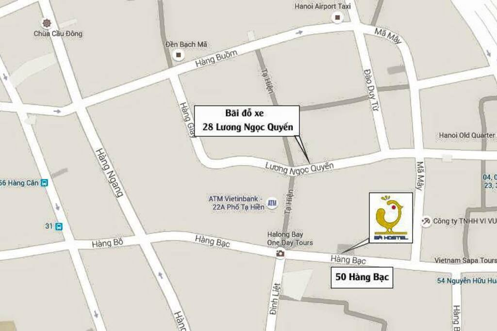 GA hostel in the map